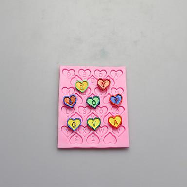 moules en majuscules numériques de silicone en forme de chocolat, moules à gâteaux, moules à savon, décoration outils bakeware