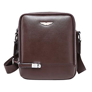 Men's Bags Cowhide Crossbody Bag for Casual Formal Office & Career Outdoor All Seasons Black Brown