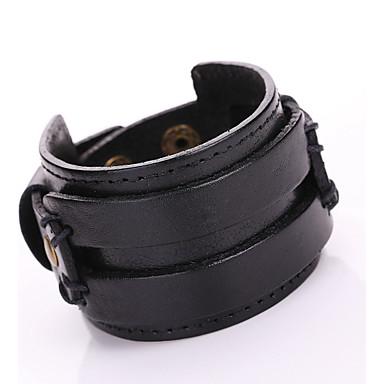 Femme Cuir Adorable Bracelets en cuir Bracelets - Bohème Mode Forme Géométrique Noir Marron Bracelet Pour Soirée Quotidien Décontracté