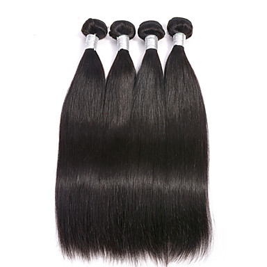 Brasiliansk hår Rett 6 måneder 4 deler hår vever