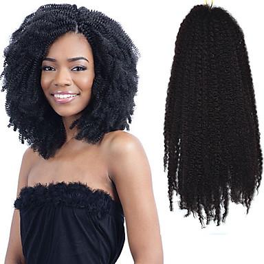 アフロ Kinky カール ハバナ 100%カネカロン髪 1 アフロ変態三つ編み ヘアブレイズ