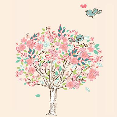 Dyr Still Life Romantik Mote Blomster Vintage Tegneserie fritid Botanisk Veggklistremerker Fly vægklistermærker Køleskabs klistermærker,