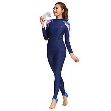 Dive&Sail Femme Combinaison Fine SPF50, Protection UV contre le soleil, Séchage rapide Tactel Coque Intégrale Tenues de plage Combinaisons