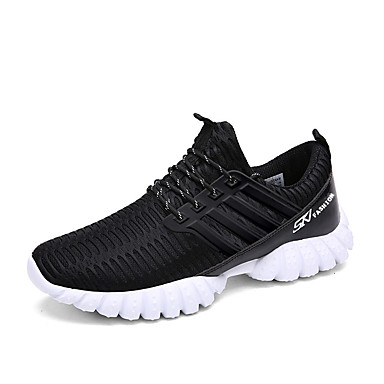 Femme-Décontracté-Noir-Talon Plat-Bout Arrondi-Sneakers-Polyuréthane