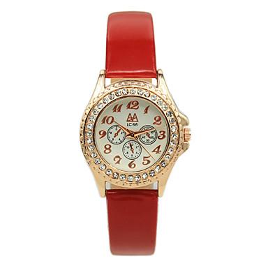 estudantes das mulheres ponteiro digitais cheios de moda de diamantes de couro cinto de relógios de quartzo casuais