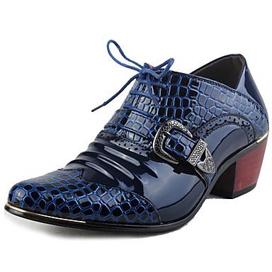Hombre Zapatos Cuero Otoño Confort Oxfords Azul Tm5SolJh