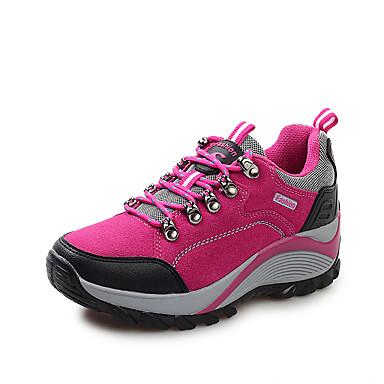 נשים נעליים עור חזיר אביב קיץ סתיו נוחות טיפוס עקב שטוח שרוכים עבור אתלטי סגול פוקסיה