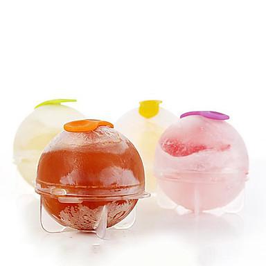 4pcs / set bandeja de cubitos de hielo fabricante de la bola de hielo de ladrillo de plástico molde redondo barra de herramientas de molde