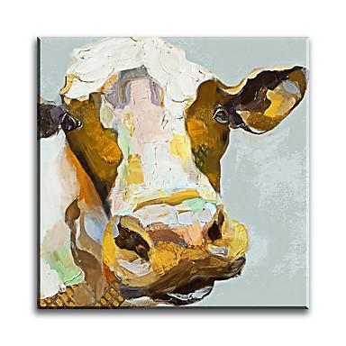 Peint à la main vache moderne style des animaux pop art peinture à l'huile décoration de la maison