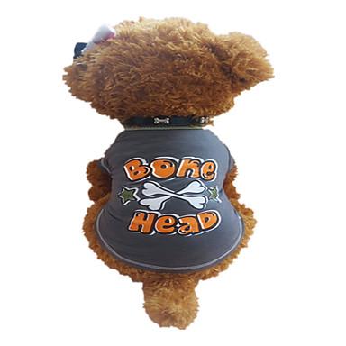 Hund Trøye / T-skjorte Hundeklær Stjerner / Bokstav & Nummer Mørkegrå Bomull Kostume For kjæledyr Sommer