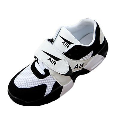 Damen Flache Schuhe PU Frühling Herbst Sportlich Normal Basketball Flacher Absatz Weiß Schwarz