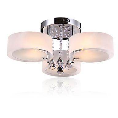 CXYlight 3-luz Montagem do Fluxo Luz Ambiente - Cristal, Estilo Mini, LED, 110-120V / 220-240V Lâmpada Não Incluída / 15-20㎡ / E26 / E27