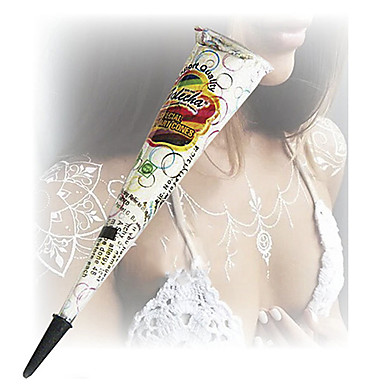 o dia das bruxas brancas cones de glitter henna body art mehandi jagua tinta kit tatuagem temporária