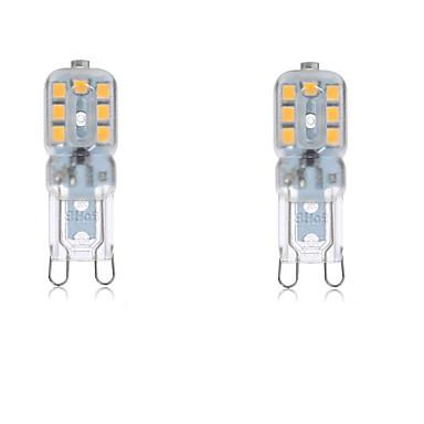 abordables Ampoules électriques-2.5 W LED à Double Broches 2700-6500 lm G9 T 14 Perles LED SMD 2835 Imperméable Décorative Blanc Chaud Blanc Froid 220-240 V 110-130 V / 2 pièces / RoHs