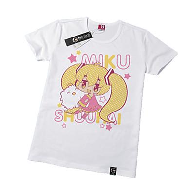 Inspiré par Vocaloid Hatsune Miku Manga Costumes de Cosplay Cosplay Hauts / Bas Imprimé Manches Courtes Tee-shirt Pour Unisexe