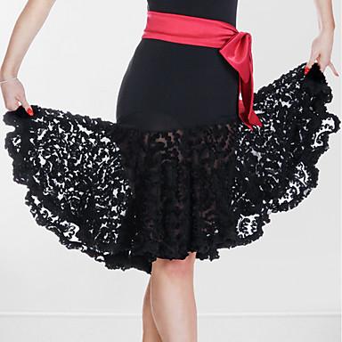 Bas(Noire,Fibre de Lait,Danse latine)Danse latine- pourFemme Au drapée Spectacle Danse latine Taille moyenne