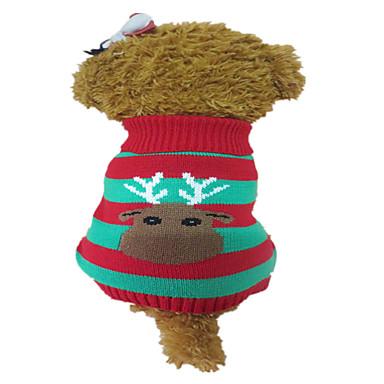 Hond Truien Kerstmis Hondenkleding Schattig Kerstmis Rendier Rood Kostuum Voor huisdieren