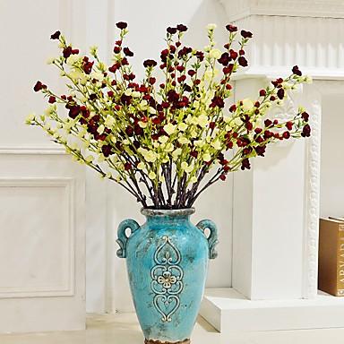 1 1 Afdeling Polyester / Plastik Camellia Gulvblomst Kunstige blomster 40.15inch/102cm