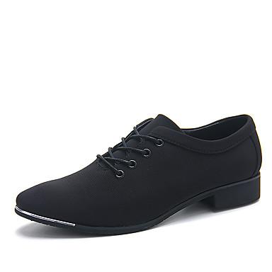 Heren Schoenen Stretchsatijn Lente / Herfst Comfortabel Oxfords Hardlopen Zwart / Blauw / Suede schoenen