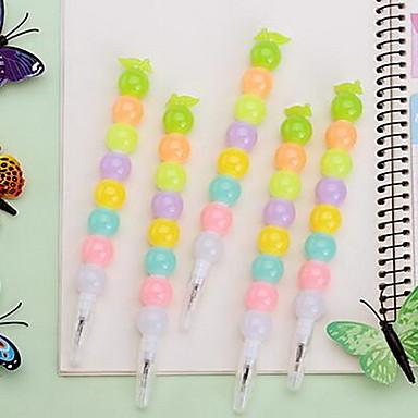 Caneta Caneta Canetas Gel Caneta,Plástico Barril Cores Aleatórias cores de tinta For material escolar Material de escritório Pacote de