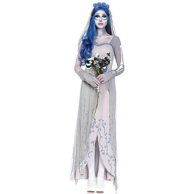 Cosplay Kostumer Spøgelse Zombie Film Cosplay Kjole Hovedstykke Handsker Halloween Jul Nytår Kvindelig Terylene