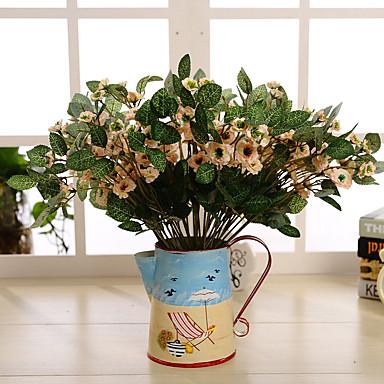 1 1 Tak Polyester / Kunststof Overige Bloemen voor op tafel Kunstbloemen 14.5inch/37cm