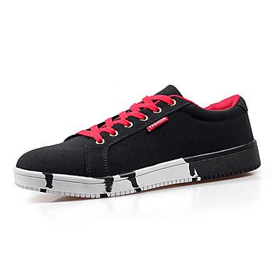 Sneakers-KunstlæderHerre-Blå Rød Hvid Marine-Fritid-Flad hæl