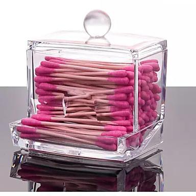 2016 Acryl-Q-Tip Make-up Aufbewahrungsbehälter Kosmetikhalter Organisatorkasten Wattestäbchen Spulen Veranstalter Hotel liefert