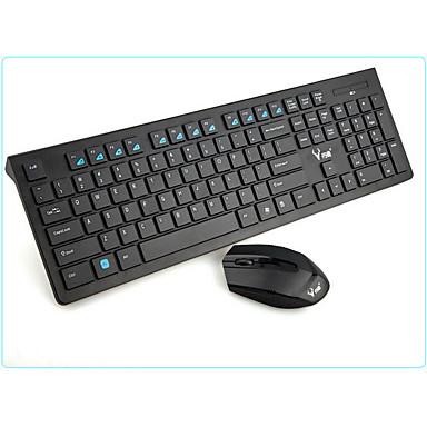 wireless bluetooth office keyboard & mouse suit black aaa battery