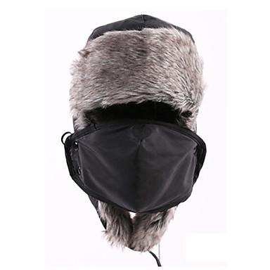 Koreahue Pelshat Ski Hat Anti-forurening maske Herre Dame Unisex Hold Varm Snowboard Bomuld Fleece Klassisk Ski Campering & Vandring