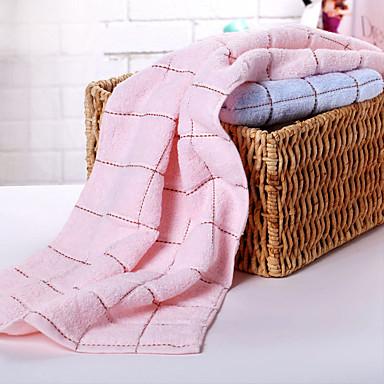 Conjunto de Toalhas de Banho-Tingido-100% Algodão-Child Towels:26*50cm(10.2*19.6.1inch),Wash Towel:33*73cm(12.9*28.7.1inch),Bath