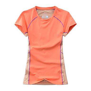 Mulheres Camiseta de Corrida Manga Curta Secagem Rápida Respirável Compressão Redutor de Suor Pulôver para Ioga Exercício e Atividade