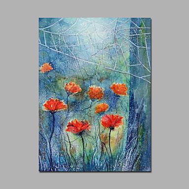 Hånd-malede Blomstret/Botanisk Oliemalerier,Moderne Et Panel Canvas Hang-Painted Oliemaleri For Hjem Dekoration