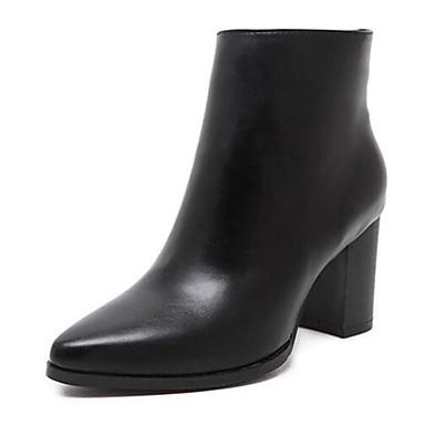 Støvler-Kunstlæder-Ridestøvler-Dame-Sort-Udendørs-Tyk hæl