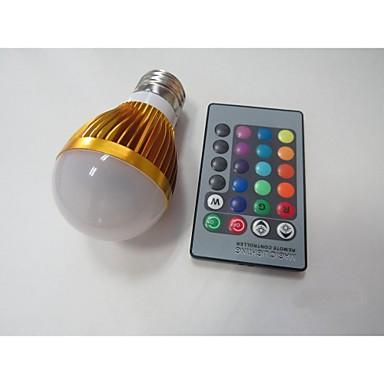 E26/E27 Lâmpada de LED Inteligente A60(A19) 1 leds LED de Alta Potência Sensor Sensor infravermelho RGB 100-230lm 2000-3500K AC 85-265V