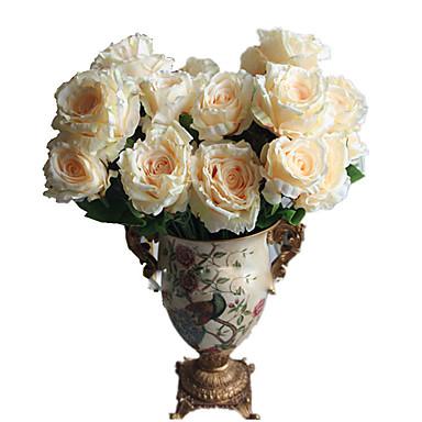 1 1 Afdeling Polyester / Plastik Roser Bordblomst Kunstige blomster 22*5.1inch/56*13cm