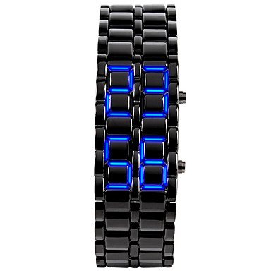 Homens Relógio de Moda / Relógio de Pulso / Único Criativo relógio Calendário / LED Silicone Banda Rígida Preta / Prata / SODA AG4