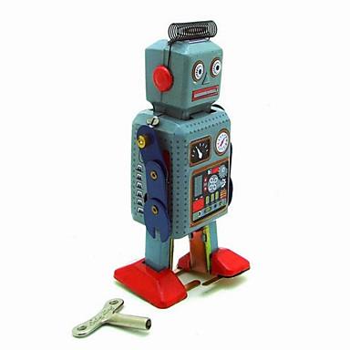 Robot Opwindspeelgoed Educatief speelgoed Speeltjes Noviteit Inrichting artikelen Krijger Machine Robot Metaal Vintage 1 Stuks Kerstmis
