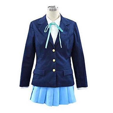 Esinlenen K-ON Hirasawa Yui Anime Cosplay Kostümleri Cosplay Takımları Okul Üniformaları Solid Uzun Kollu Kravat Palto Gömlek Etek