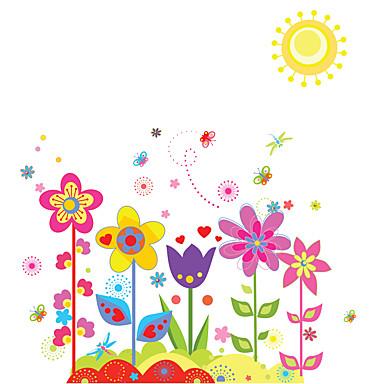 Floral Adesivos de Parede Autocolantes de Aviões para Parede Autocolantes de Parede Decorativos Material Removível Decoração para casa