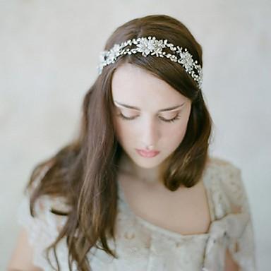 Damen Strass Legierung Korbwaren Kopfschmuck-Hochzeit Besondere Anlässe Freizeit Stirnbänder Blumen Kopfkette Haar-Werkzeug 1 Stück