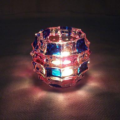 1pc führte Batterie Originalität Hauptlieferung Glas Armleuchter Nachtlicht (gelegentliche Farbe)