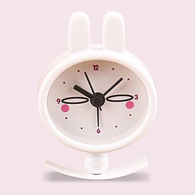 (Mønster random) børn gave kanin pige lomme ur søde kreative lille bærbar metalmaling vækkeur