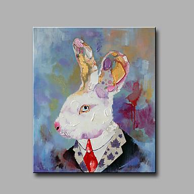 Handgeschilderde Abstract Dieren Verticaal, Klassiek Modern Kangas Hang-geschilderd olieverfschilderij Huisdecoratie Eén paneel