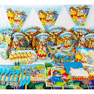 Luksus Peter Plys 78 Stk. Fødselsdagsfest Dekorationer Børn Part Forsyninger Party Dekoration 6 Mennesker Bruger