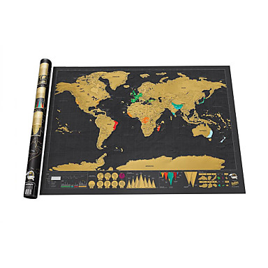 Scratch Map Scratch Off Map of the World for Travelers Brinquedos Mapa Adulto 1 Peças