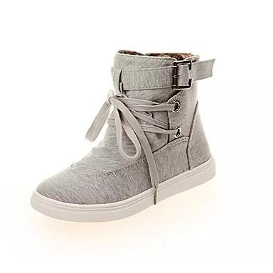 Sneakers-Kanvas-Komfort-Dame-Sort Grå-Fritid Sport-Flad hæl