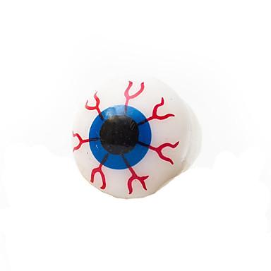 Halloween Glowing Eyeball Style Decoration Silicone Ring