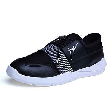 Sneakers-Læder-Komfort-Herre-Sort Blå Rød-Udendørs Fritid Sport-Flad hæl