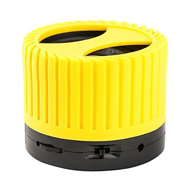 Udendørs Bluetooth Bærbar Trådløs Bluetooth 2.1 3.5mm AUX Subwoofer Sort Gul